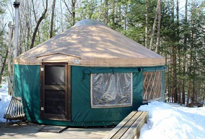 Tyler Brook Yurt - Brownfield Maine