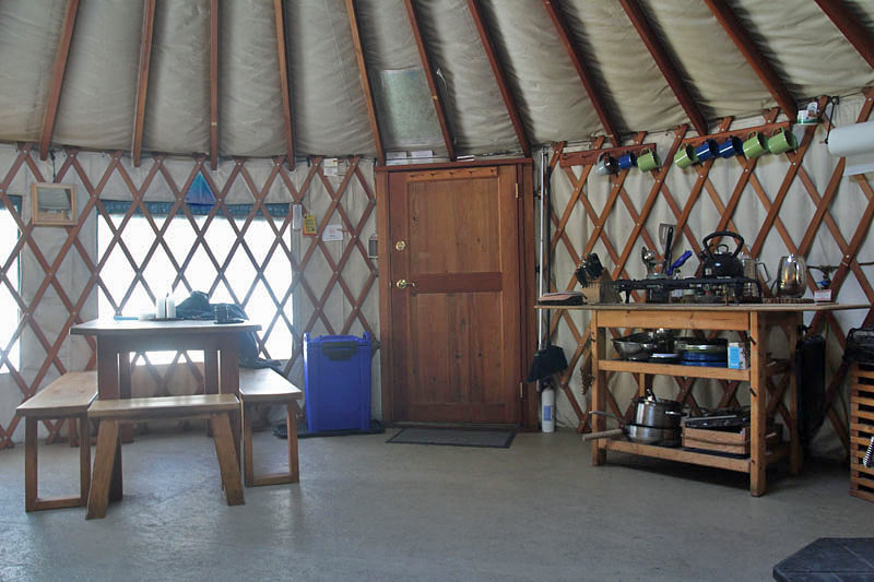 Tyler Brook Yurt in Brownfield