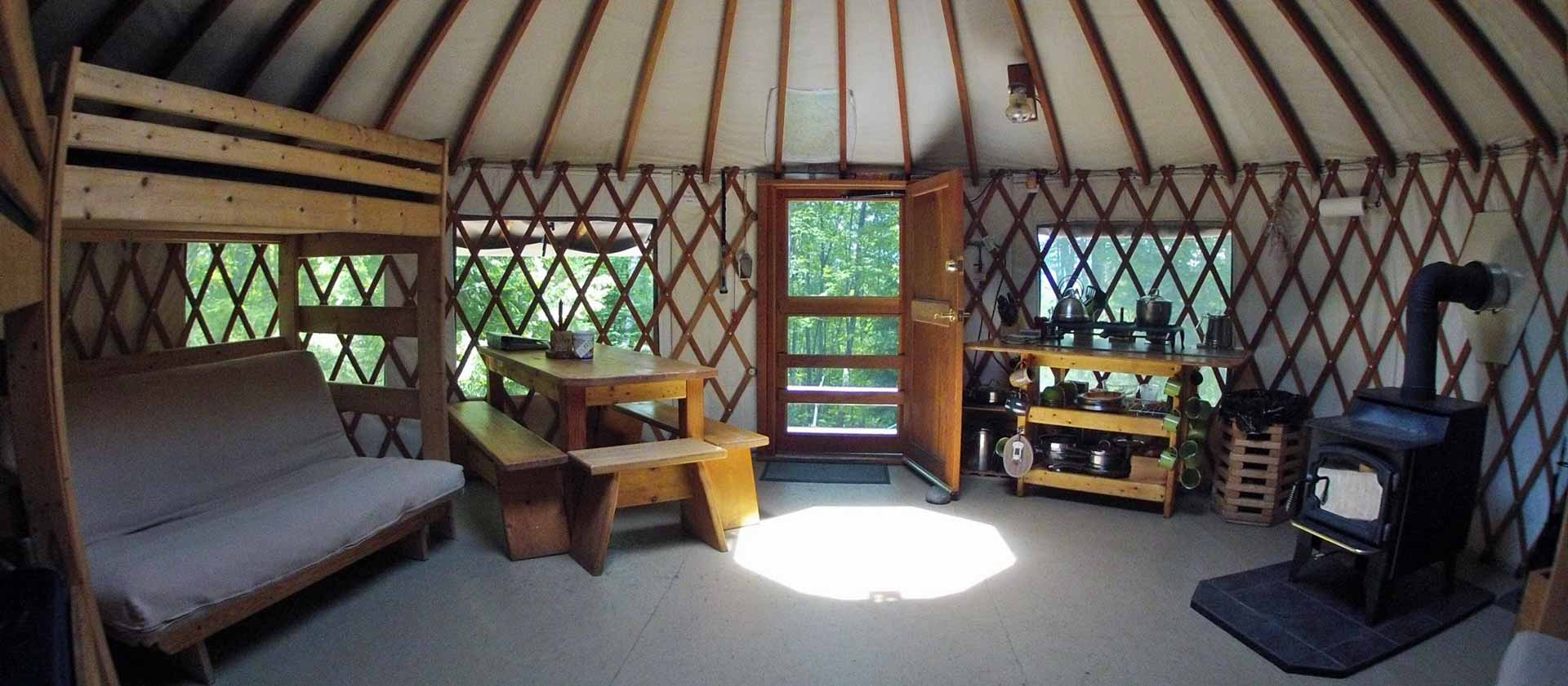 Mountain View Yurt Brownfield, ME