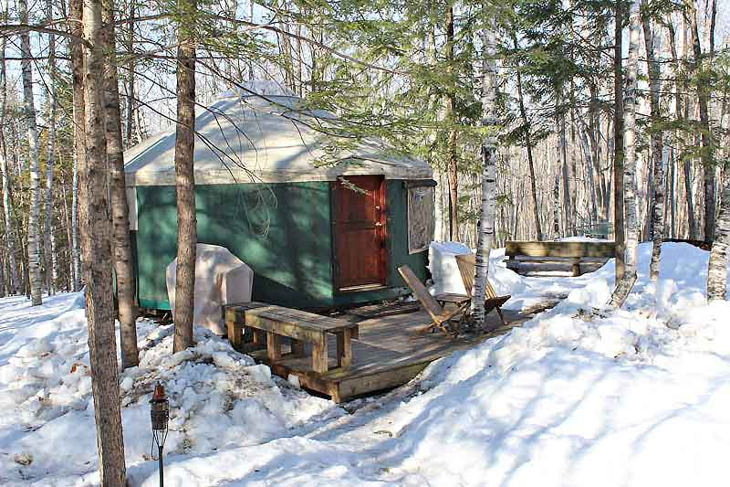 Birches Yurt - Frost Mountain Yurts